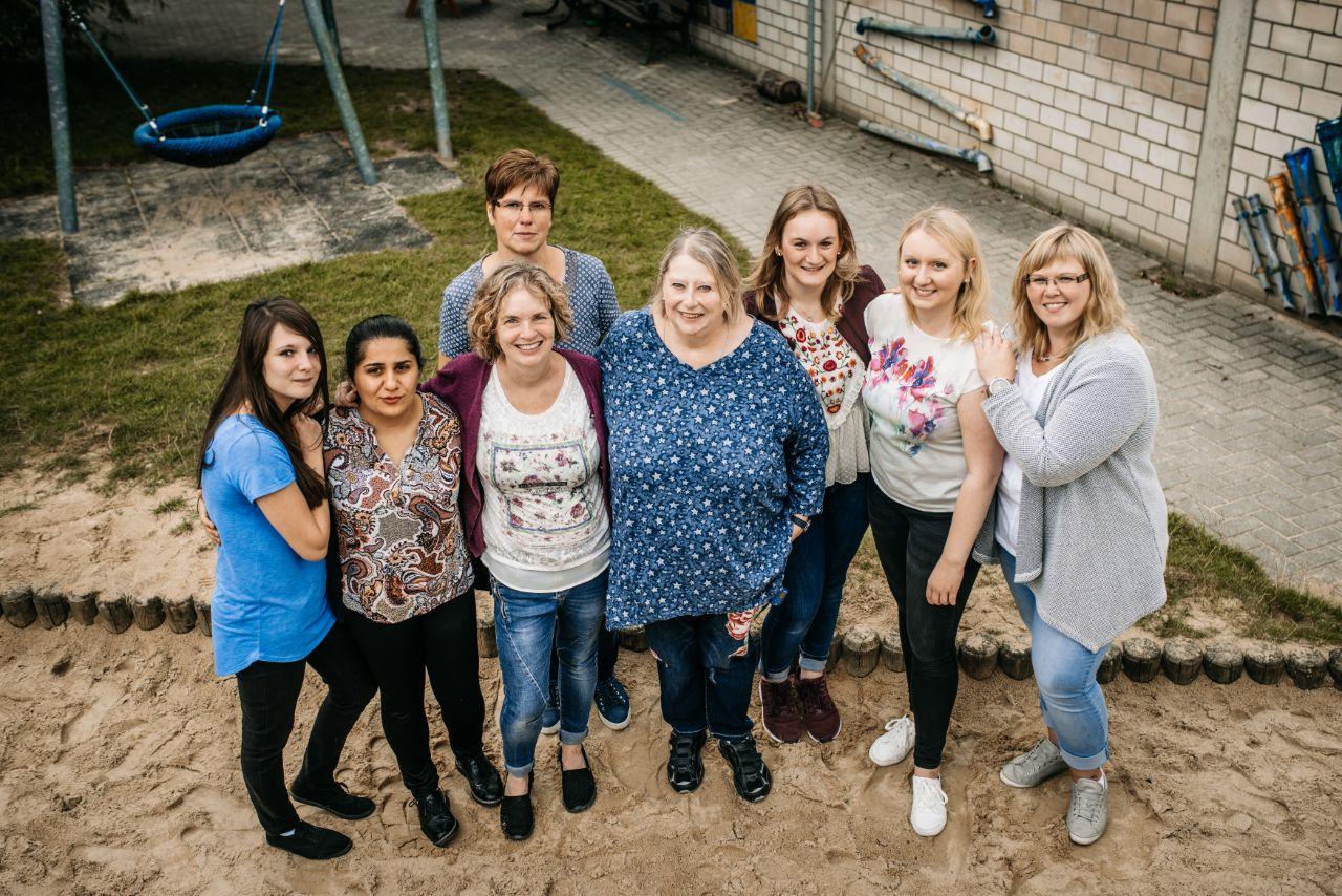 Team vom Rheindahlener Regenbogenhaus